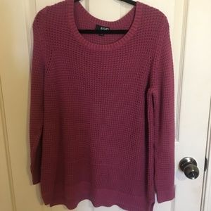 Long Sleeve Knit Sweater -- Plus Size